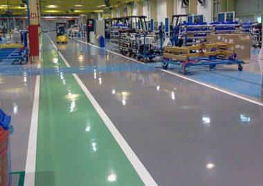 plancher industriel en epoxy